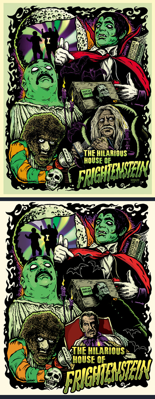 Ghoulish Frightenstein-prints both