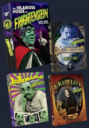 Frightenstein DVD covers